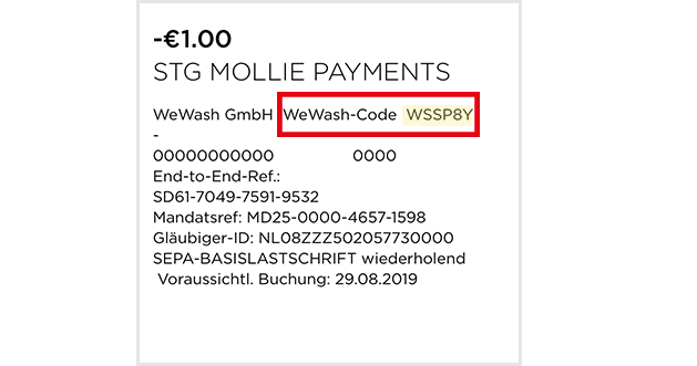 Example Verification Code Mollie