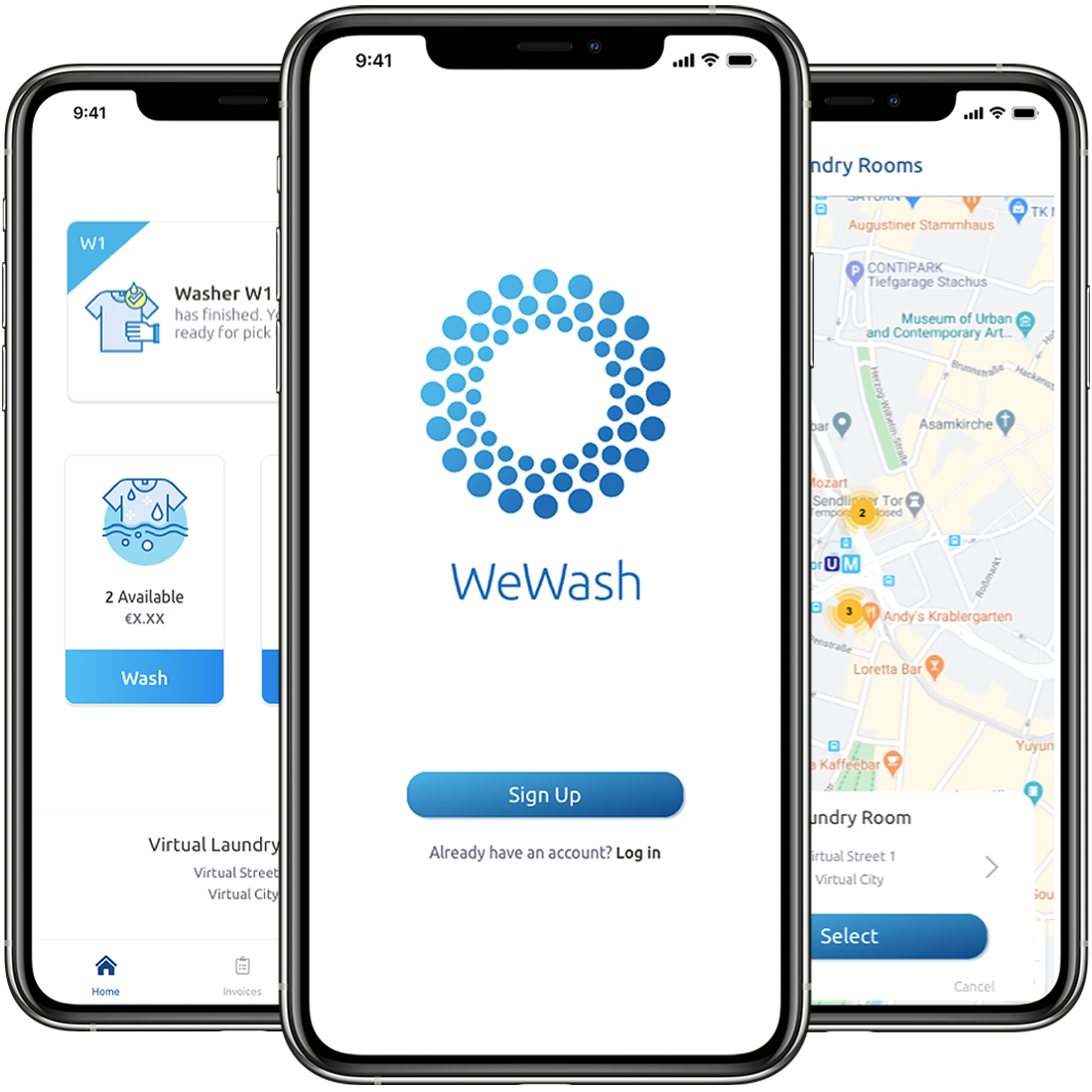 WeWash App Launch