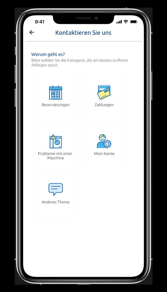 WeWash App Hilfecenter