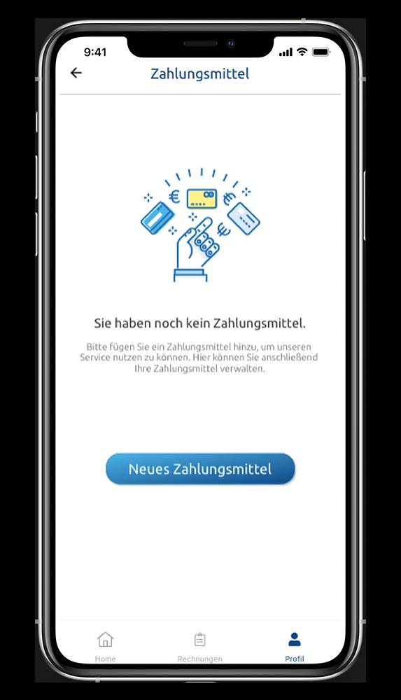 WeWash App Zahlungsmittel