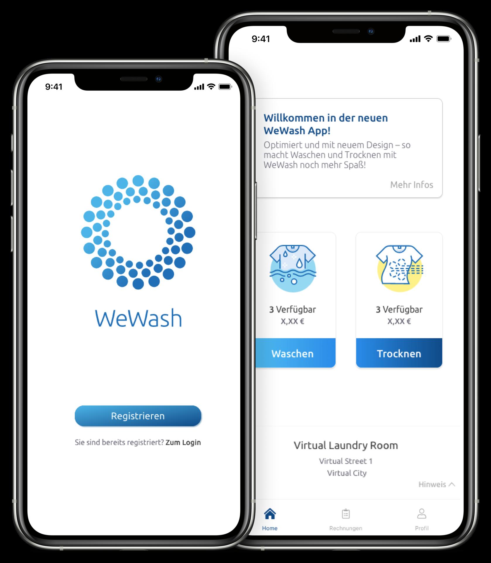 Die neue WeWash App