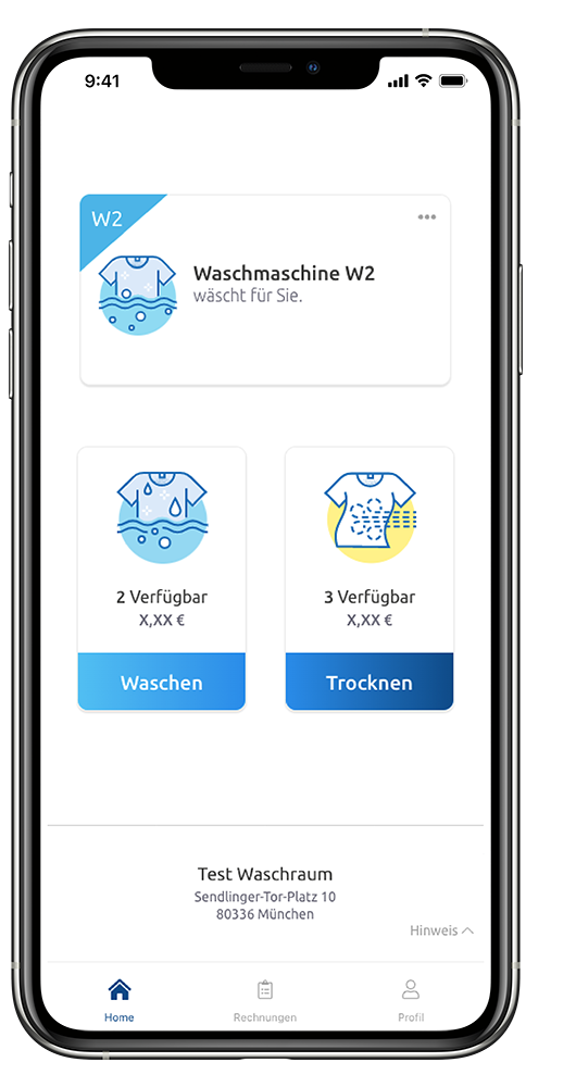 WeWash App Wäscht für Sie