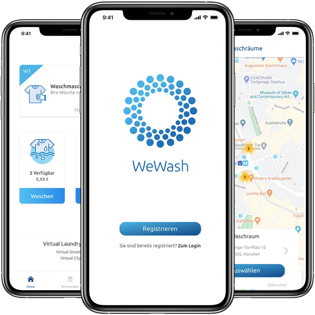 WeWash App Launch