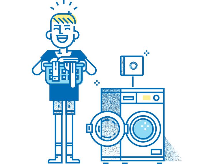 Erlebe neuen Waschkomfort